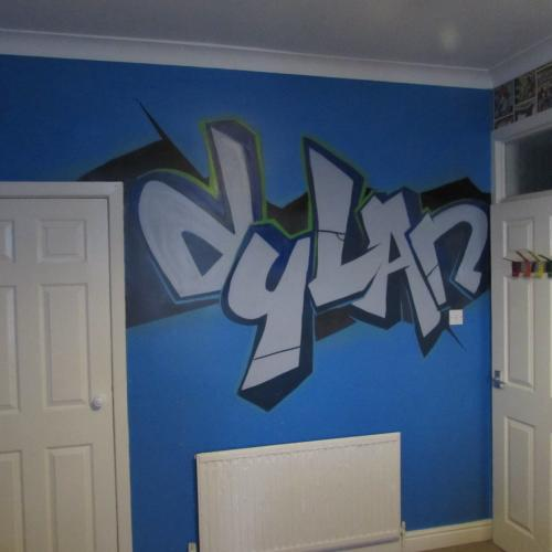 Dylan Bedroom Graffiti