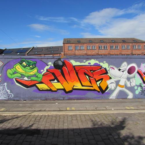 DANGERMOUSE GRAFFITI PIECE FIVES SHEFFIELD 2019