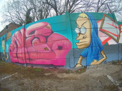 Beavis and butthead Graffiti - Derby 2018