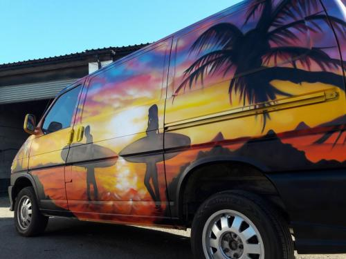 VW T5 Surf Sunset