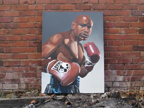 Floyd Mayweather - Acrylic & Spray