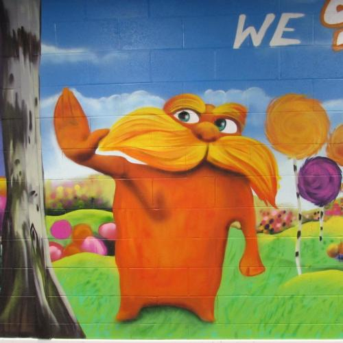 The Lorax graffiti art