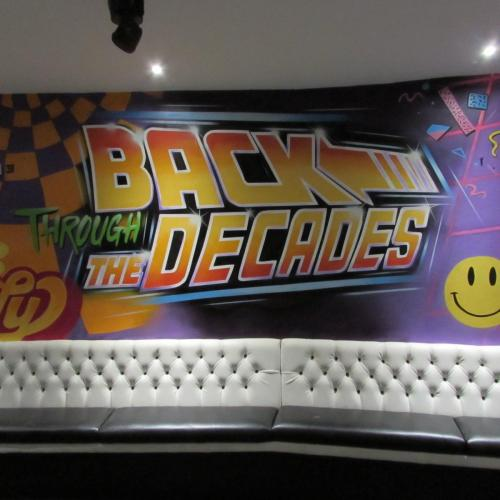 Back Through the Decades - back to the Future graffiti art